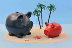 Zee bankwezenconcept Royalty-vrije Stock Afbeelding