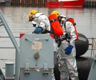 Zee brandbestrijders stock afbeeldingen