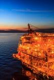 Zee de Industrieolie en gas stock fotografie