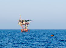 Zee installatie bij Egyptisch olieveld Stock Afbeelding