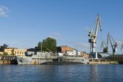 Zee scheepswerf Heilige Petersburg Stock Fotografie