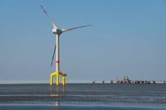 Zee windturbine Stock Foto