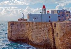 Zeedijk en Haven van Acre stock fotografie