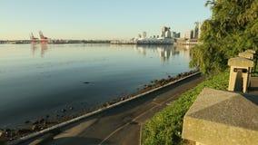 Zeedijk Jogger, Stanley Park Vancouver Stock Afbeelding