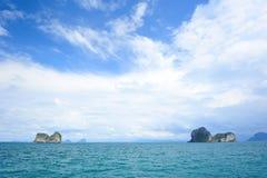 Zeegezicht bij Ngai eiland, Trang Royalty-vrije Stock Afbeelding