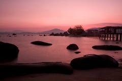 Zeegezicht bij zonsopgang Royalty-vrije Stock Foto