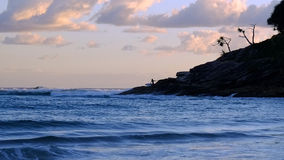 Zeegezicht bij zonsopgang Royalty-vrije Stock Fotografie
