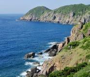 Zeegezicht Blauw Paradijs in Vietnam stock fotografie