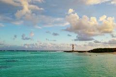 Zeegezicht in Cancun, Mexico Royalty-vrije Stock Afbeeldingen