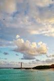 Zeegezicht in Cancun, Mexico Stock Afbeeldingen