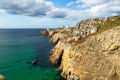 Zeegezicht dichtbij Crozon (Bretagne, Frankrijk) Royalty-vrije Stock Fotografie