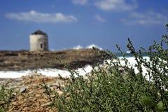 Zeegezicht in Dodekanese Griekenland. Royalty-vrije Stock Afbeelding