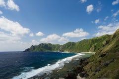 Zeegezicht en Landschap van Batanes - Filippijnen Stock Foto's