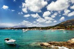 Zeegezicht. Het eiland van Kreta Royalty-vrije Stock Foto's