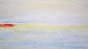 Zeegezicht het schilderen Abstracte kunstachtergrond stock videobeelden