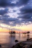 Zeegezicht: Italië, Abruzzo, S Vito Chietino, Costa DE Royalty-vrije Stock Foto's