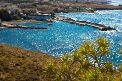 Zeegezicht Kreta, Griekenland Royalty-vrije Stock Afbeeldingen