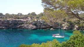 Zeegezicht Mallorca Stock Foto