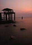 Zeegezicht na zonsondergang Royalty-vrije Stock Fotografie