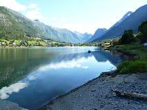 Zeegezicht in Noorwegen Royalty-vrije Stock Afbeeldingen