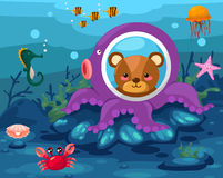 zeegezicht onderwater Royalty-vrije Stock Fotografie