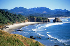 Zeegezicht in Oregon Stock Afbeeldingen