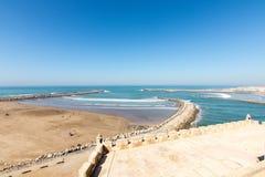 Zeegezicht in Rabat, Marokko Stock Foto's