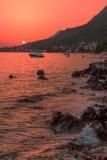 Zeegezicht van Adriatic Stock Afbeelding