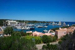Zeegezicht van de Porto Cervo ` s Jachthaven Royalty-vrije Stock Afbeeldingen