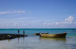 Zeegezicht van GLB Malheureux, Mauritius Royalty-vrije Stock Foto's