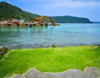 Zeegezicht van het Eiland van Phu Quoc in Vietnam Stock Afbeeldingen