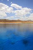 Zeegezicht van lagune Dahab. Egypte. Rode Overzees. Stock Afbeeldingen