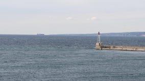 Zeegezicht van Marseille, Frankrijk stock video