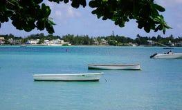 Zeegezicht van Mauritius Island stock afbeeldingen