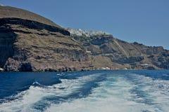 Zeegezicht van Santorini royalty-vrije stock foto's