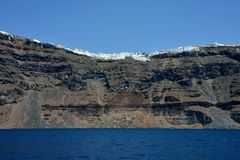 Zeegezicht van Santorini royalty-vrije stock afbeelding