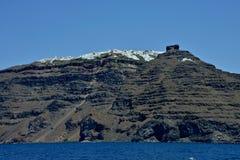 Zeegezicht van Santorini stock fotografie