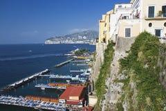 Zeegezicht van Sorrento, Italië Royalty-vrije Stock Foto