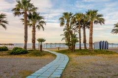 Zeegezicht van stranden van Andalusia royalty-vrije stock afbeeldingen