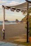 Zeegezicht van stranden van Andalusia stock foto