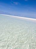 Zeegezicht van tropisch strand Royalty-vrije Stock Fotografie