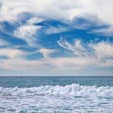 Zeegezicht in Vina del Mar, Chili Royalty-vrije Stock Foto's