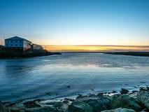 Zeegezichtmening in Borganes, IJsland stock foto's