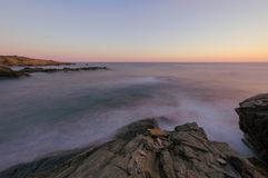 Zeegezichtzonsopgang Kreta, Griekenland Royalty-vrije Stock Foto