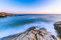 Zeegezichtzonsopgang Kreta, Griekenland Stock Foto's