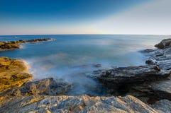 Zeegezichtzonsopgang Kreta, Griekenland Royalty-vrije Stock Fotografie