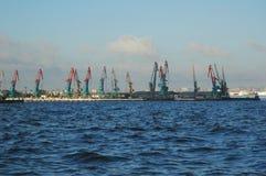 Zeehaven in Baku royalty-vrije stock afbeeldingen