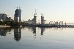 Zeehaven in Baku azerbaijan Royalty-vrije Stock Fotografie