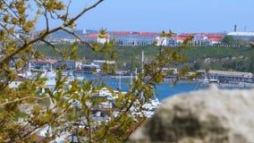 Zeehaven in Bay City stock videobeelden