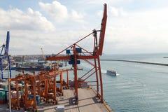 Zeehaven en Kraan Royalty-vrije Stock Afbeelding